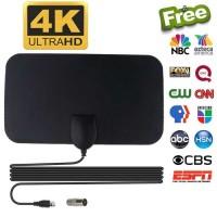 Antena TV Digital Taffware DVB-T2 4K High Gain 25dB - TFL-D139 - Hitam