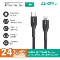 Kabel Charger Iphone Aukey CB-AKL3 MFI USB C To Lightning - 500729