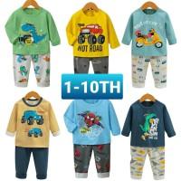 (1-10TH) Setelan Piyama anak Laki laki Import Premium 3 - Babyhulashop