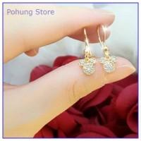 PSA0235 - Anting Xuping Dewasa Mickey Mouse Perhiasan Gold