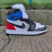 Sepatu Nike Air Jordan 1 High OG SP White Royal Varsity Red Black - 40