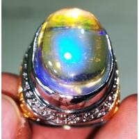 Batu Permata Kalimaya India Kembang Jarong Kristal Playing Colour