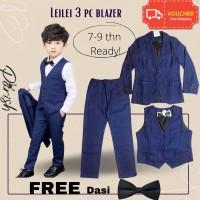 Leilei stripe three piece suits/setelan jas anak laki-laki