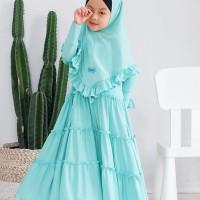 AZZAHRA SET SYARI KIDS Baju Gamis Syari Anak Muslimah Umur 5-7 tahun