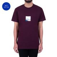 Sch Tshirt Vista Ss Dark Maroon - XS