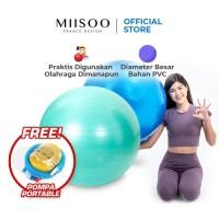 MIISOO Gymball Senam Bola Gym Yoga Fitness Untuk Ibu Hamil Free Pompa