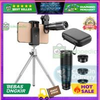 COD APEXEL 4 in 1 LensA SmArtphone Tele Wide MAcro Fisheye APL22X105