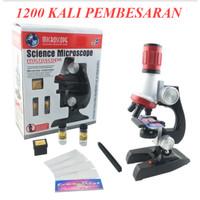 Mikroskop Edukasi Pembesaran 1200X Microscope Mini 100x 200x 1000x