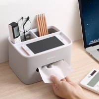 Box Penyimpanan Peralatan Kosmetik Office Desk Organizer - Gray