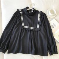 Pakaian blouse wanita model Boni top polos bahan twiscone size fit L
