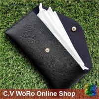 Dompet Masker Tempat Penyimpanan Mask PU Leather Wallet TERAMPAI