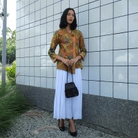 NONA RARA - Mentari 3N T0980, Baju atasan kerja blouse batik wanita