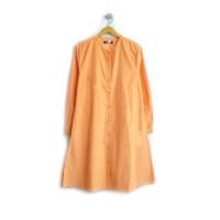 AT20 Kemeja Tunik Wanita Kodorat (Pilihan Warna di Variasi) - Orange, M