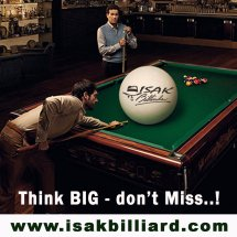 Logo ISAK Billiard Sport Co.