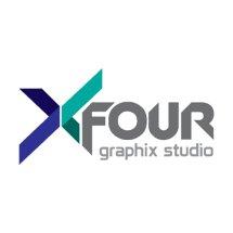Logo Percetakan Xfour Jakarta