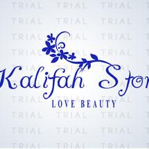 Logo Khalifah Beauty Store