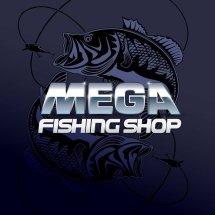 Logo mega fishing shop.