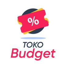 Logo toko budget