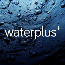Logo waterplus+ water for all