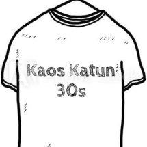 Logo kaos katun 30s