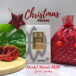 CHRISTMAS PROMO + FINEGOLD 25 Gr / 25g NEW CERTIEYECARD