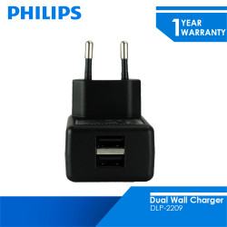 Philips Dual USB Home Charger 5W DLP2209
