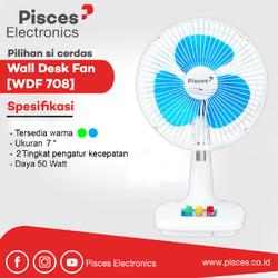 Pisces Kipas Angin 2 in 1 Meja Dinding Wall Desk Fan 7 inch WDF708