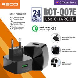 Recci Usb Charger QC3.0 RCT-Q07E Hitam