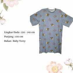 Dress Wanita Jumbo Midi Dress Casual Wanita Dress Karakter Tom & Jerry