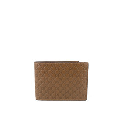 Gucci Microguccissima GG Leather Bifold Men's Wallet Brown