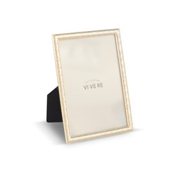 VIVERE Photo Frame Std New Small Rods Gold 5X7INCH