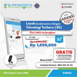GPS TRACKER SUPER SPRING PELACAK KENDARAAN VT-330 (READY) Jaringan 3G