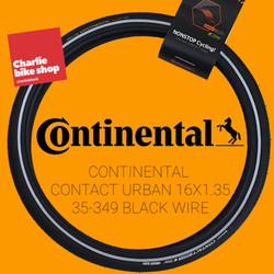 Ban Luar CONTINENTAL CONTACT URBAN 16x1.375 35-349 Black Wire