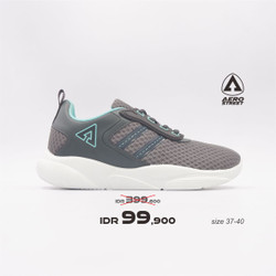 Aerostreet 37-40 Berry Abu Toska - Sepatu Sneakers Casual Sport Wanita