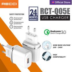 Recci Usb Charger QC3.0 RCT-Q05E Putih