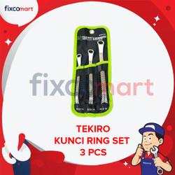Tekiro Kunci Ring Set 3 Pcs (10-15 mm)