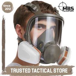 3M Mask Face 6800 Masker Gas 3M Original Catridge 3M Full Face Mask
