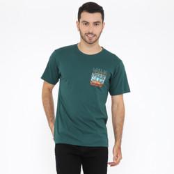 Wanderlust T-Shirt Kaos Life is Short Green Army