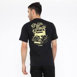 Wanderlust T-Shirt Kaos Chillin Mode Black