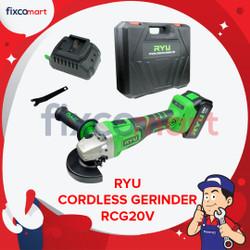 RYU Cordless Grinder / Mesin Gerinda Tangan Baterai 4 Inch RCG 20 V