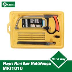 Magic Mini Saw Gergaji Kayu Besi Pipa Multifungsi Set 3 Way Blade
