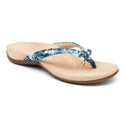 Vionic Bella Blue Plam Sandal Wanita