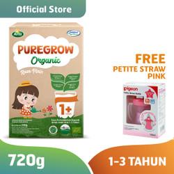 PUREGROW Susu Formula Organik 1-3 Tahun 720gr Girl Free Petite Straw