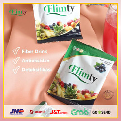 Flimty Fiber Drink Detok Herbal Rasa Blackcurrant Raspberry 1box=16pcs