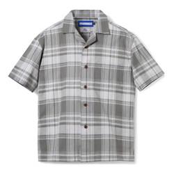 Gaudi Madras Short Sleeve Grey Square Shirt