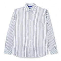 Kemeja Garis Pria / Bofill Stripes Long Sleeve White Navy Shirt