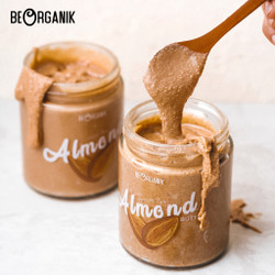 Beorganik Roasted Almond Butter 260Gr (Unsweetened, Gluten Free,Vegan)