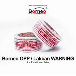 Borneo OPP Lakban WARNING 48 mm x 90 Yard