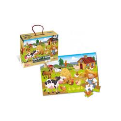 Mainan Puzzle Happy Farm World Jumbo Floor (48 ps) HWA1369822