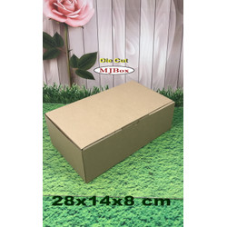 Kardus karton uk. 24x14x8 cm...die cut box kotak Souvenir -dll